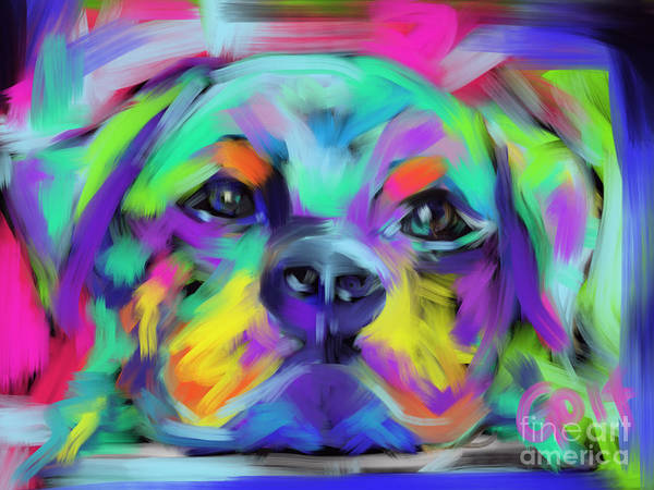 Painting - Dog Hug by Go Van Kampen