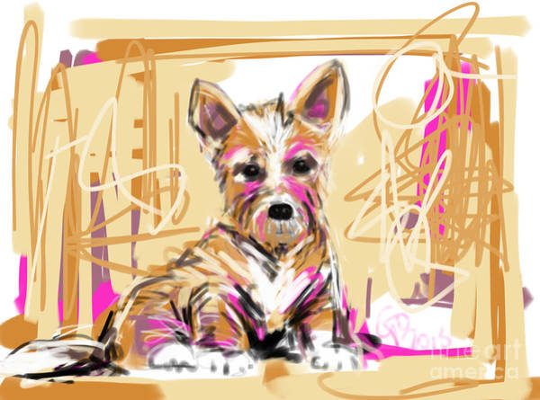 Painting - dog I did not make this mess by Go Van Kampen