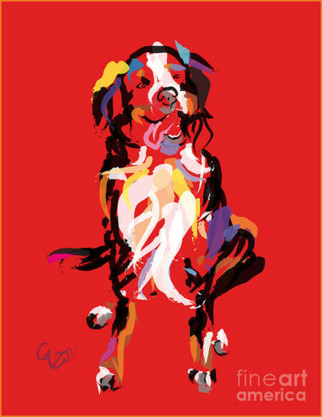 Painting - Dog Iggy by Go Van Kampen