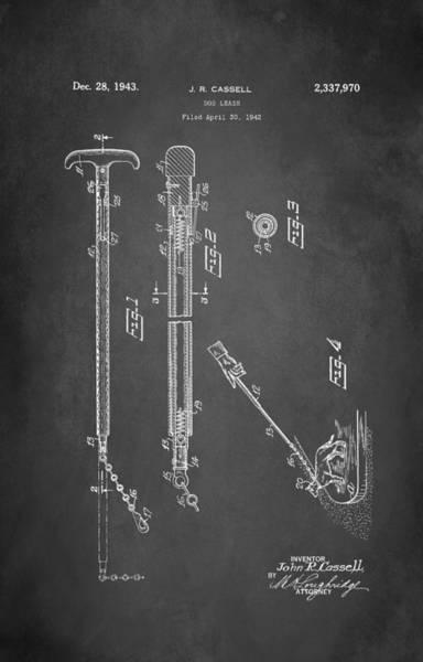 Leash Wall Art - Digital Art - Dog Leash Patent 1943 by Patricia Lintner
