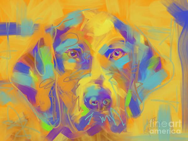 Painting - Dog Noor by Go Van Kampen