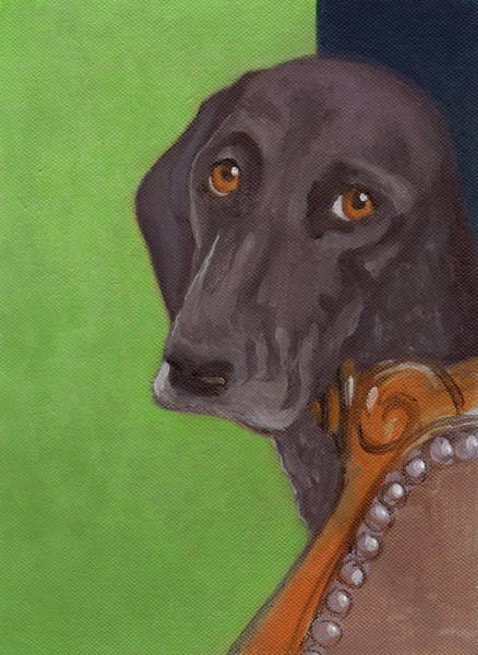 Painting - Dog On Chair by Kazumi Whitemoon