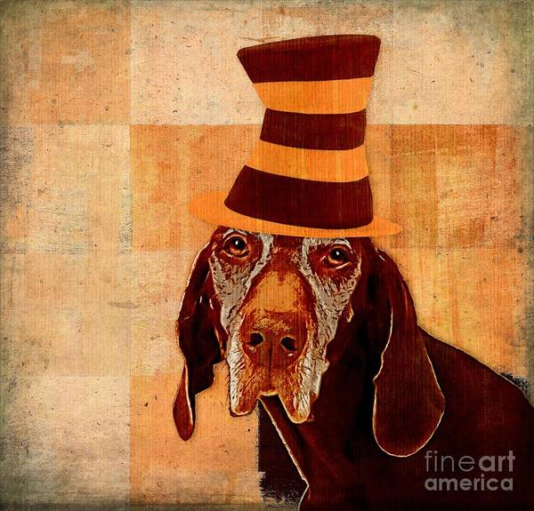 Cat In The Hat Wall Art - Digital Art - Dog Personalities 11 Cat In The Hat by Variance Collections