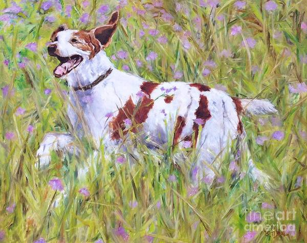 Field Spaniel Painting - Dog Romp by Betsy Doody