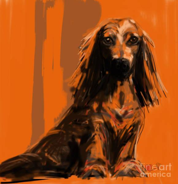 Painting - dog   Simon by Go Van Kampen