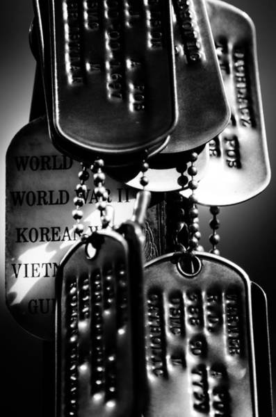 Photograph - Dog Tags From War by Steven Santamour
