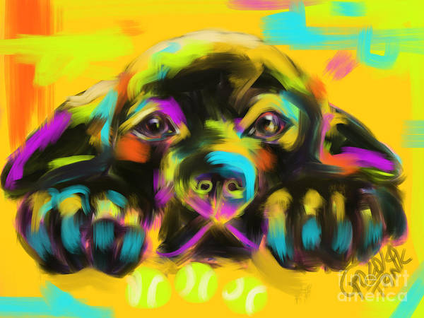 Painting - Dog Tank by Go Van Kampen