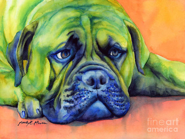 Wall Art - Painting - Dog Tired by Hailey E Herrera