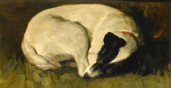 Wall Art - Painting - Dog-tired by Valentine Thomas Garland
