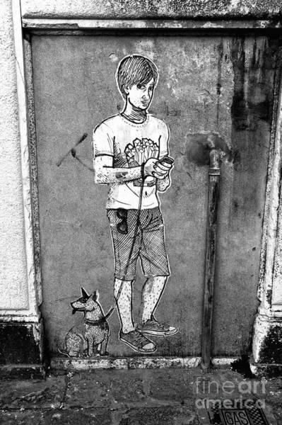 Dog Walker Photograph - Dog Walker In Venice by John Rizzuto