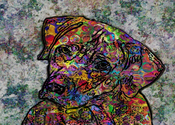 Wall Art - Painting - Dog With Color by Jack Zulli