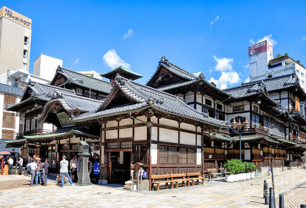 Photograph - Dogo Onsen - Old Style Japanese Hot Spring Resort by David Hill