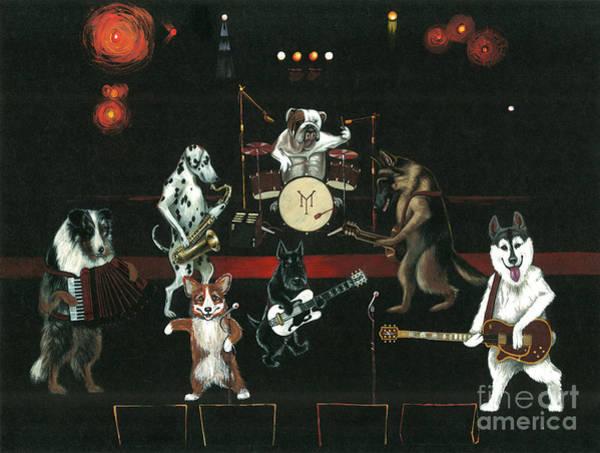 Sax Painting - Dogpack by Margaryta Yermolayeva