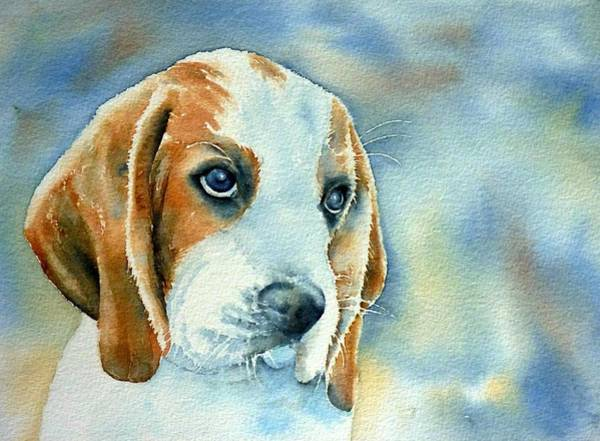 Beagle Painting - Dogs Eyes 5 by Thomas Habermann