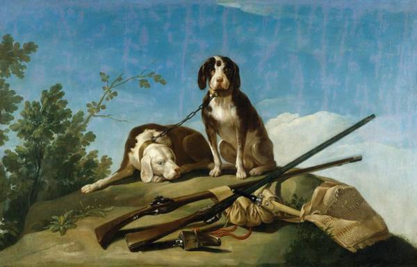 Leash Painting - Dogs On The Leash by Francisco Goya