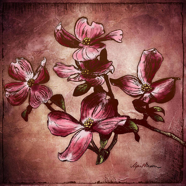 Digital Art - Dogwood Branch I by April Moen