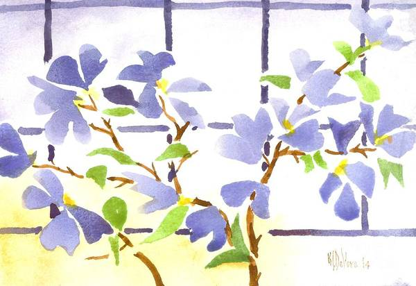 Wall Art - Painting - Dogwood In The Window by Kip DeVore