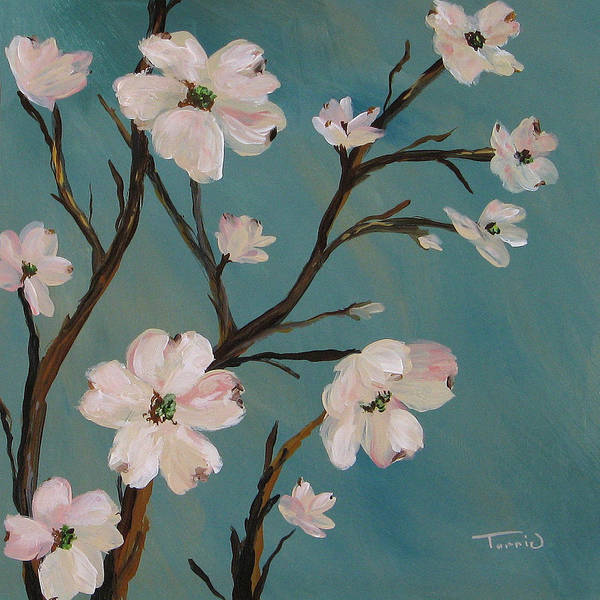 Flower Wall Art - Painting - Dogwood by Torrie Smiley