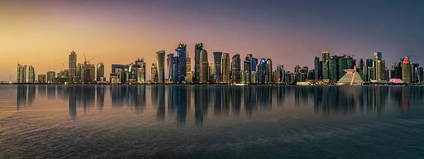 Doha Reflections Art Print by Antoni Figueras