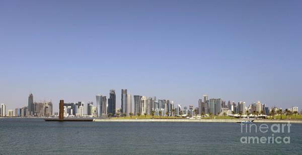 Photograph - Doha Skyline Panorama by Paul Cowan