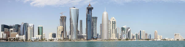 Photograph - Doha Towers In 2013 by Paul Cowan