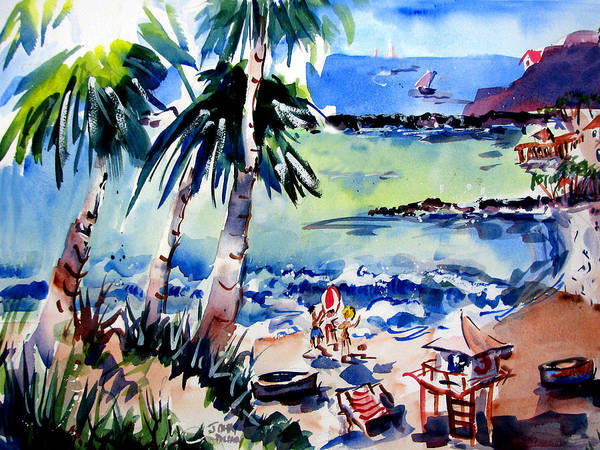 Volley Painting - Doheny Daze by John Dunn