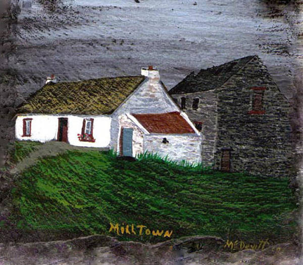 Donegal Painting - Doherty Cottage And Mill by Barbara McDevitt