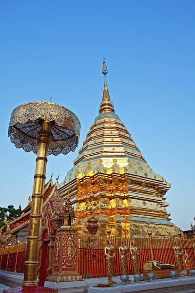 Chiang Mai Province Photograph - Doi Suthep Temple, Chiang Mai, Thailand by John W Banagan