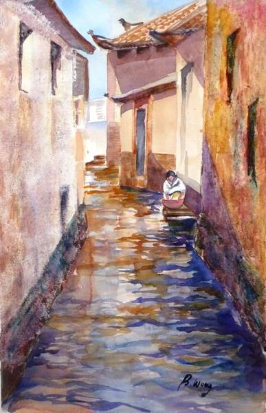 Painting - Doing Laundry In Lijiang by Betty M M Wong