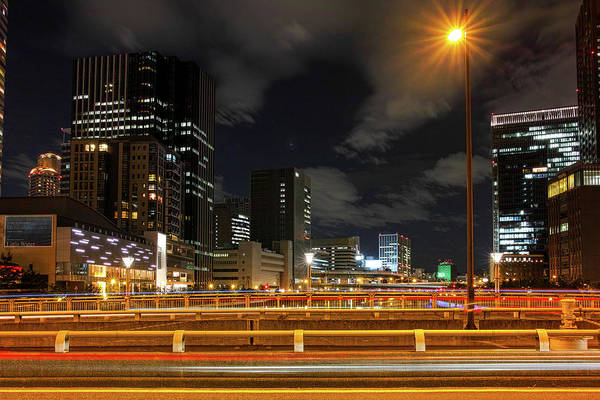 Multi Exposure Photograph - Dojima River Night View by I Love Photo And Apple.