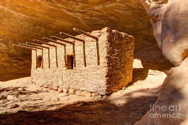 Mud House Photograph - Doll House Anasazi Ruin - Utah by Gary Whitton