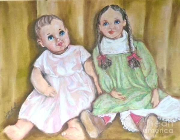 Wall Art - Pastel - Dollbabies by Sandra Valentini