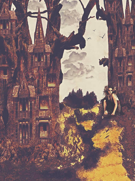 Dollhouse Forest Fantasy Art Print