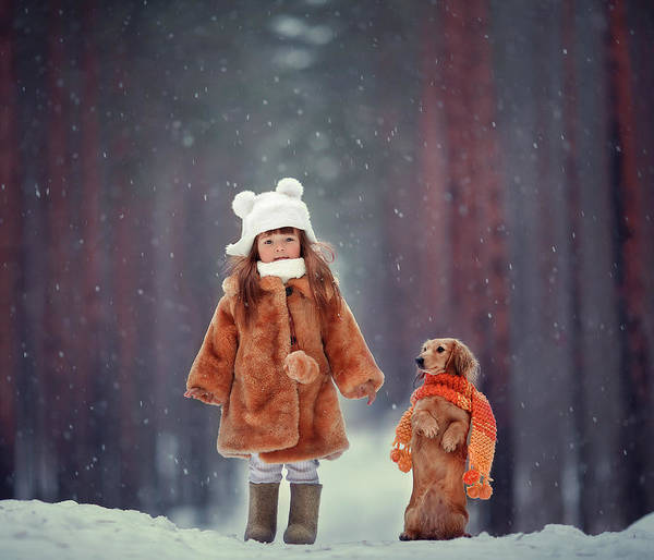 Cold Weather Wall Art - Photograph - Dolls by Anna Melnikova