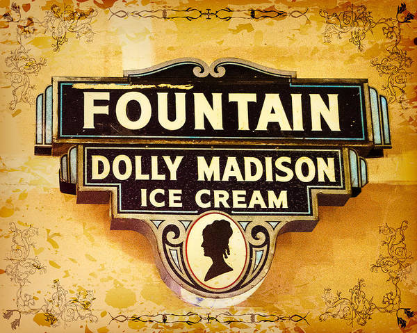 Photograph - Dolly Madison Ice Cream Sign by Robert FERD Frank