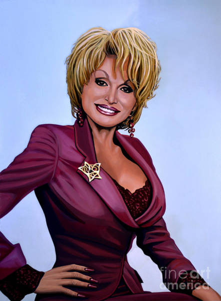 Wall Art - Painting - Dolly Parton by Paul Meijering