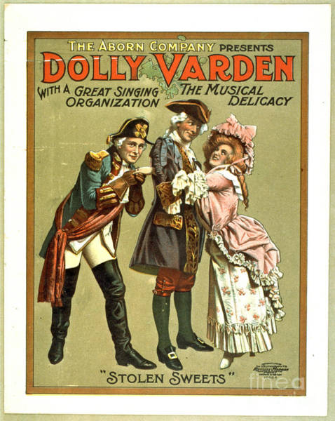 Revue Photograph - Dolly Varden The Musical Delicacy 1906 by Padre Art