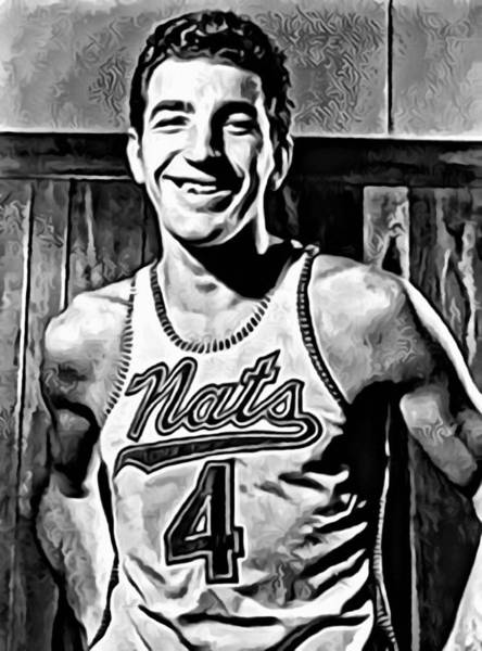 Slamdunk Painting - Dolph Schayes by Florian Rodarte