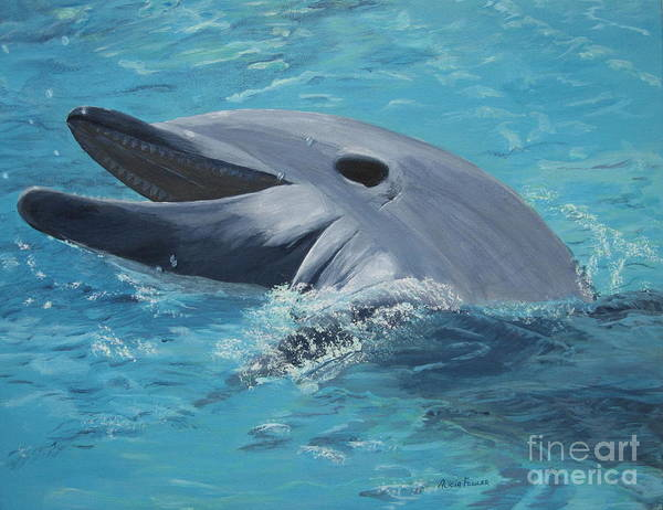 Painting - Dolphin At Play by Alicia Fowler