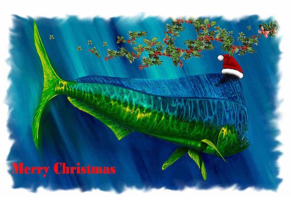 Digital Art - Dolphin Card by Steve Ozment