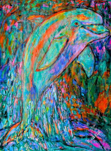 Painting - Dolphin Dance by Kendall Kessler