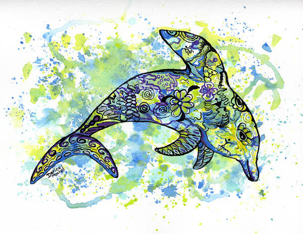 Painting - Dolphin by Darice Machel McGuire