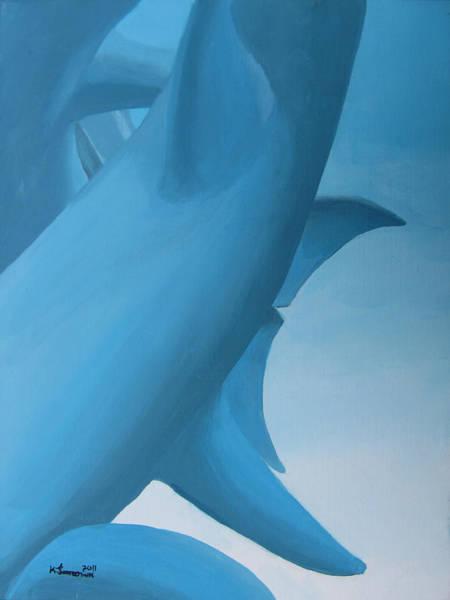 Kelowna Wall Art - Painting - Dolphin Statue by Kayleigh Semeniuk