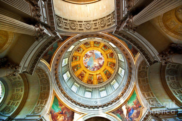 Invalides Photograph - Dome Des Invalides Tomb Of Napoleon I by Charuhas Images