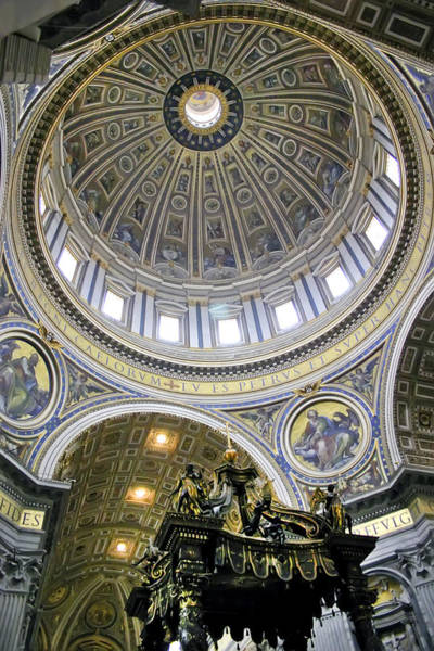 Photograph - Dome Of St. Peter's Basilica by KG Thienemann