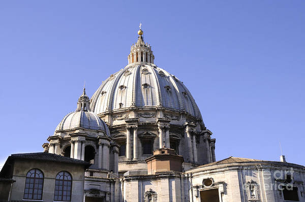 Photograph - Dome Of St Peters Rome by Brenda Kean