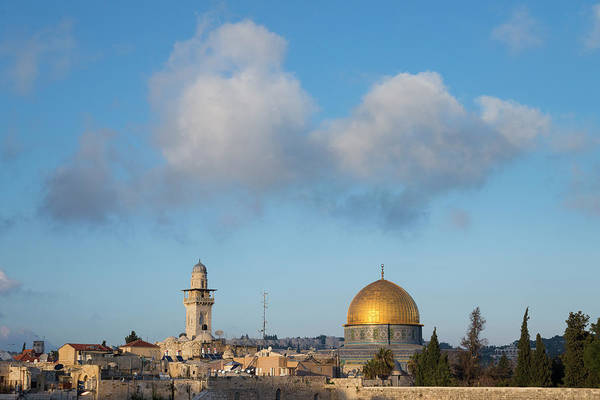 Jerusalem Photograph - Dome Of The Rock & Light Clouds by Eitan Simanor