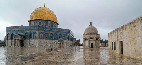 Wall Art - Photograph - Dome Of The Rock, Temple Mount Haram by Panoramic Images