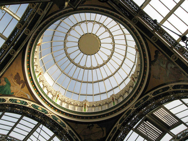 Photograph - Dome Skylight In The County Arcade In Leeds Uk. by Rob Huntley