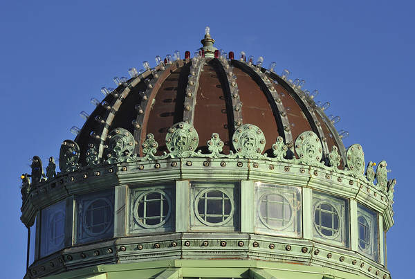 Photograph - Dome Top Of Carousel House Asbury Park Nj by Terry DeLuco